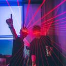 【送料無料!】パーティーDJ マスク クイック点滅無線レーザーメガネ、光る照明グローイング玩具DJのための【新品】