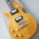 【送料無料!】エレキギター アコースティックギター 38インチ 本体 左利き マホガニー イエロー 虎縞模様 バンド【新品】