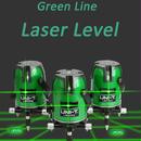 【送料無料!】【高品質】高輝度グリーンレーザー532mn 2ライン 墨出し器 光学測定器 360°回転 LM520G 【新品】