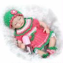 【送料無料!】 すやすやカワイイ♪ リボーンドール 赤ちゃん人形 ベビードール リアル ハンドメイド /おしゃぶり 哺乳瓶 17インチ【新品】