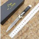 【送料無料!】Ali3 イタリア9インチakc leverlettoアンティーク屋外折りたたみナイフd2鋼ホーンハンドルポータブル【新品】