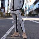 【スニーカープレゼント対象商品】サイドラインパンツ カラー:グレー×ブラック  品番:0045