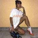 """FRENEMY""プリントTシャツ      カラー:ホワイト  品番:7001"