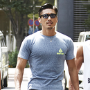 トライアングルTシャツ  カラー:ネイビー 品番:0008