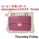 ThursdayFriday サーズデ―フライデー アメリカ の お洒落な プリント ポーチ Orchid iphone6plus入る 大きさ スペシャル セール ハンドバッグ 海外 ブランド
