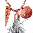 CATHAMMILL キャットハミル ダブル ラブ ネックレス Long charm tassel necklace rose ペンダント かわいいネックレス プレゼントにもおすすめ 海外 ブランド