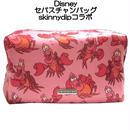 disney skinnydip コラボ セバスチャン メイクアップバッグ sebastian make up bag 横長 トリニダードの赤蟹