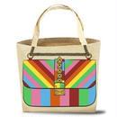 My Other Bag マイアザーバッグ トートバッグ キャンバス ROXY RAINBOW 虹色 レインボーカラー マチ付き 正規品