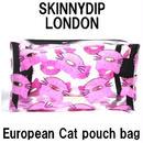 skinnydip スキニーディップ ロンドン ポーチバッグ cat nut make up bag ねこ 猫 キャット 小物入れ レディース 可愛い