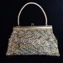 Flower pattern  handbag / 花柄ビーズハンドバッグ