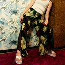【migration】Elegant Flower Chiffon Pants