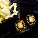 1960's Vintage Gold Froral Marble Pierce