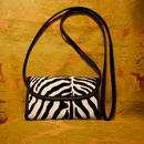 Zebra Leather Shoulder Bag