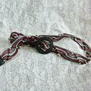 Vintage  Leather mesh Belt