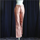 Vintage Metallic Pink  Leather Pants