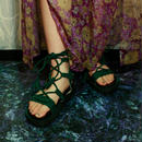 Lace up Sandals / green