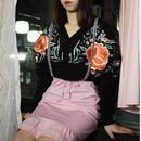 【あちゃちゅむ/ahcahcum】モヘア シノワ刺繍カーディ