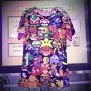 ドットキャラ総柄Tシャツ/select