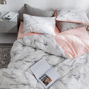 【BELINDA.+】《Q》大理石布団カバーセット カバーリング 寝具カバー ベッドカバー クイーン 4点