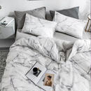 【BELINDA.+】《D》大理石布団カバーセット カバーリング 寝具カバー ベッドカバー ダブル 4点