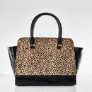 Croco Handbag / Bengal Cat Color