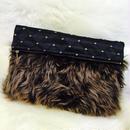 Gradation Fur Clutch Bag / BLK(グラデーションファークラッチバッグ)