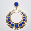 Pendientes Tamboril azul y oro