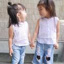 【kids】ストライプサマータンクトップシャツ