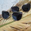 【ladies'】goldframe sunglasses
