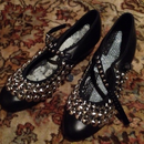 katz london ballet shoes studded