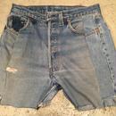 remake denim shorts