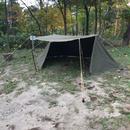 US Pup Tent +zipper US パップテントセット+ファスナー改造(デッドストック)追加ポール付き