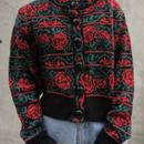 rose pattern shortcardigan