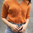 orange rib tops