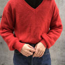 v neck red sweater