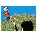 ポスター/追っかけっこを楽しむオカッパさんとおヒゲさん