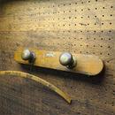 Vtg Brass knob Wall hanger A