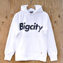 Bigcity LOGO 12オンス HOOD SWEAT  WHITE
