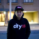1040モデルcitySB HOOD SWEAT  ( COLOR BLACK )