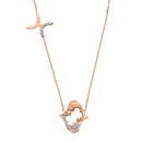 Rose Gold 925Zodiac Necklace  Pisces うお座