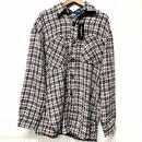 Mismatch NYC/Oversized tweed shirts ホワイト