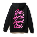 Anti Social Social Club/OPTIONS フーディー   BLACK× PINK