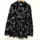 Mismatch NYC/Oversized tweed shirts ブラック