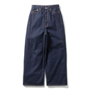 Name. : STRETCH DENIM WIDE PANTS (ONE WASH)