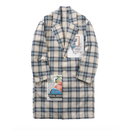 Name. : RAYON COTTON PLAID PATCHED COAT