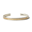 hobo : 925 Silver Wire Bracelet with Brass Plate