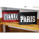 TAAKK : HELLO→PARIS CLUTCH BAG