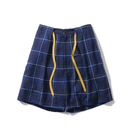 Name. : PLAID RAYON DRAWSTRING SHORTS