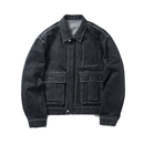Name. : WASHED DENIM ZIP BLOUSON