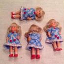 ARIブルー花柄ワンピの女の子862